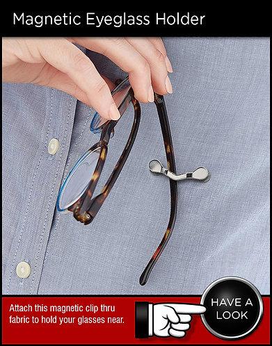 Readerest Magnetic Eyeglass Holder Clip