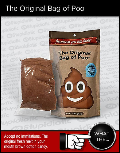Funny Bag of Poo Brown Cotton Candy
