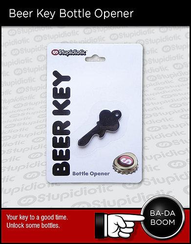 Beer bottle keychain opener key fob
