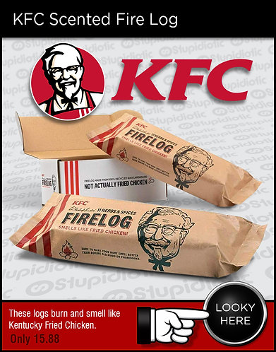 KFC  Chicken Scented Fire Log