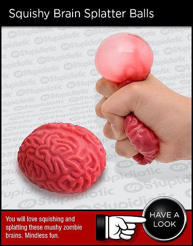 Squishy Brain Splatter Stress Balls