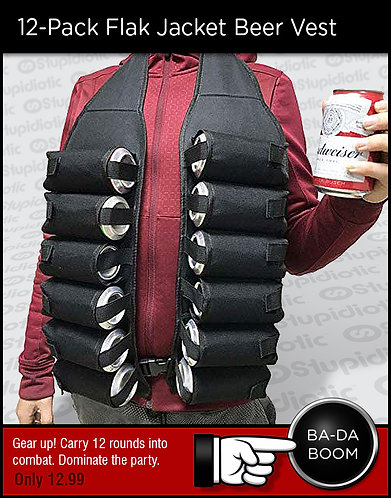 12-Pack Flak Jacket Beer Vest