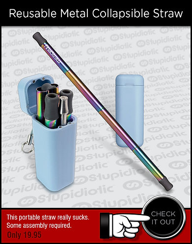 LastStraw Reusable Collapsible Metal Straw