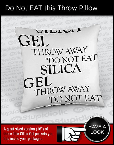 Giant Silica Gel Packet Throw Pillow