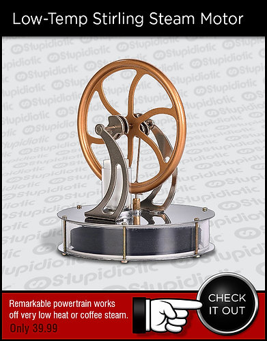 Low Temerature Stirling Steam Motor