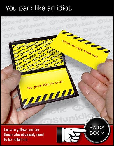 bad idiot parking driver cards