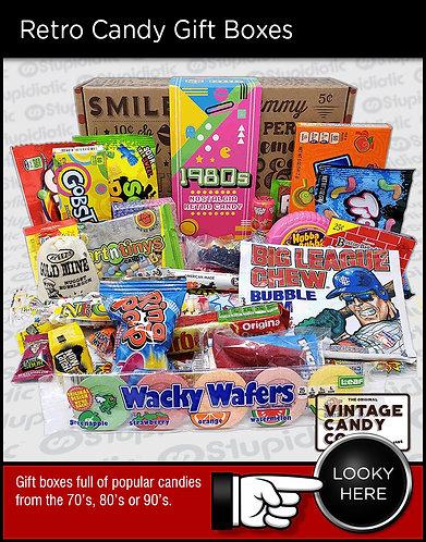 retro classic candy gift box assortment