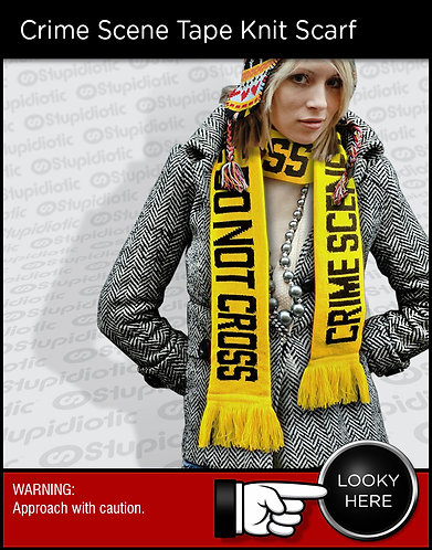 FRED Crime Scene Caution Tape Knit Scarf