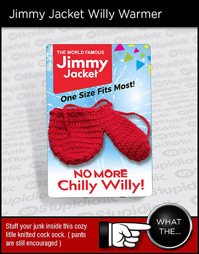 Funny Jimmy Jacket Willy Warmer Cock Sock