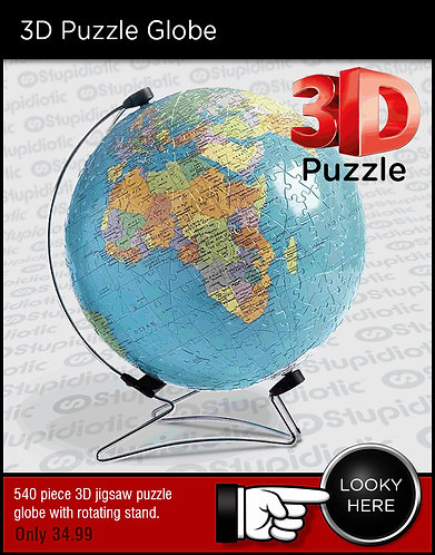 3D Puzzle of Planet Earth