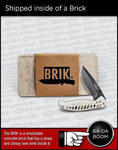 BRIK Smash Concrete Brick Gift Knife
