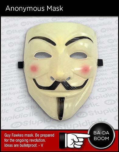 Guy Fawkes Vendetta mask revolt