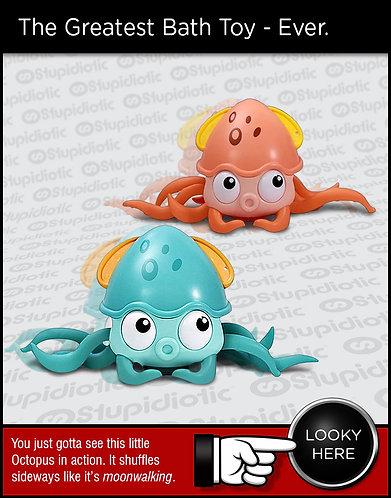 Octopus Bath Toy Wind-Up Crawling Moonwalk