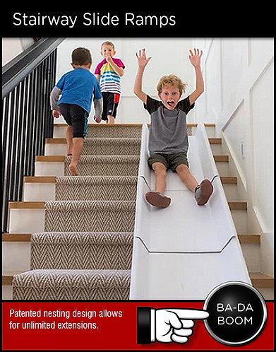 Stairslide stairway stairwell sliding channel ramp slide