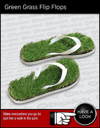 Artificial grass slippers sandals flip flops