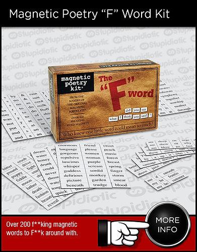 """Magnetic Poetry """"F"""" Word Kit"""