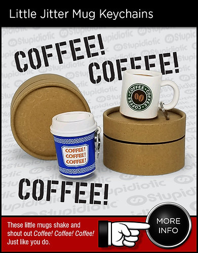 Jitter Mug Coffee Mug Cup Keychains