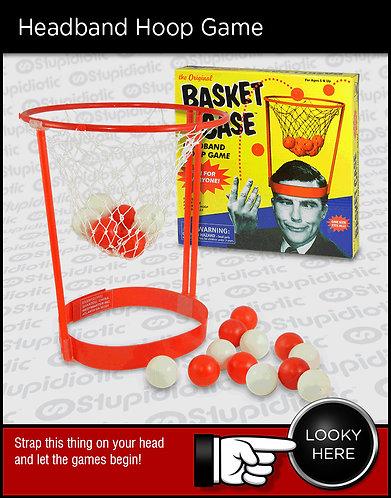 Headband basket net ping pong ball game