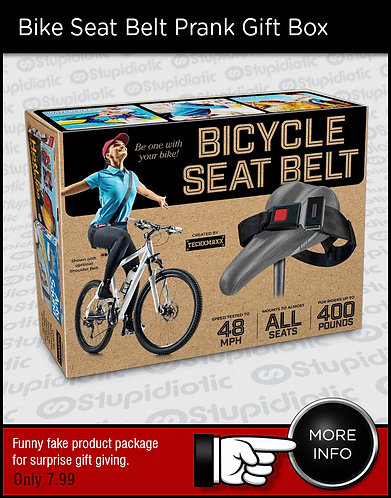Bicycle Seat Belt Prank Gift Box