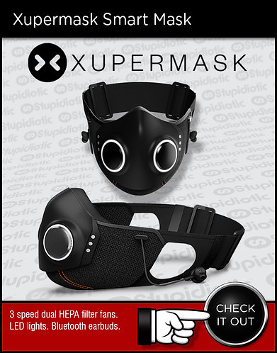 Xupermask HEPA filter blue tooth face mask