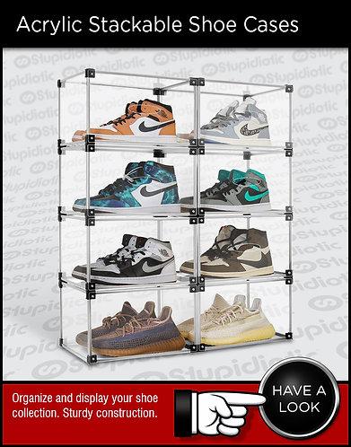 Acrylic Stackable Magnetic Sneaker Shoe Displays