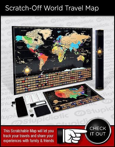 Scratch Off World Travel Maps
