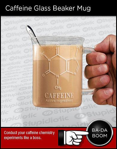 Caffeine Glass Beaker Coffee Mug