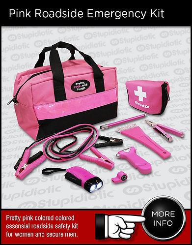 Pink Roadside Emergency Kit Bag