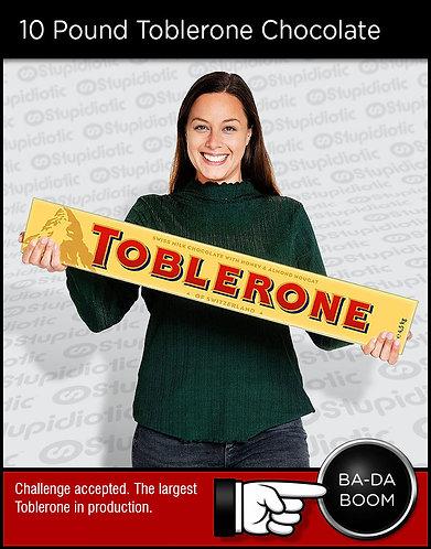 10 Pound Giant Sized Toblerone Chocolate Bar
