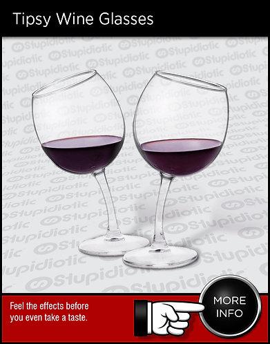 Bent Wine Glass warped tilted lopsided