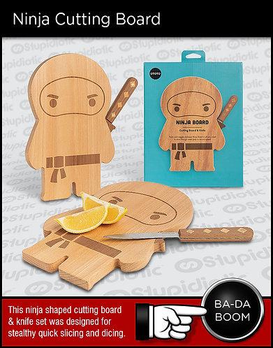 OTOTO Ninja Shaped Cutting Board Knife Set