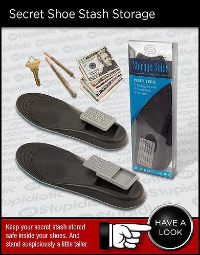 Storage Soles Secret Shoe Stash Hidden Compartments