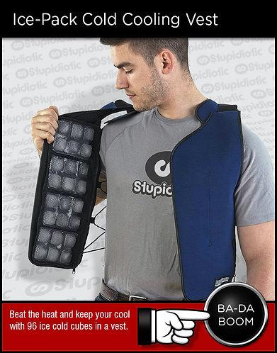 wearable summer heat ice cube vest shirt pockets