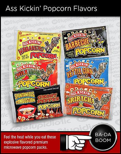 Ass Kickin' Premium Microwave Popcorn Gift Pack