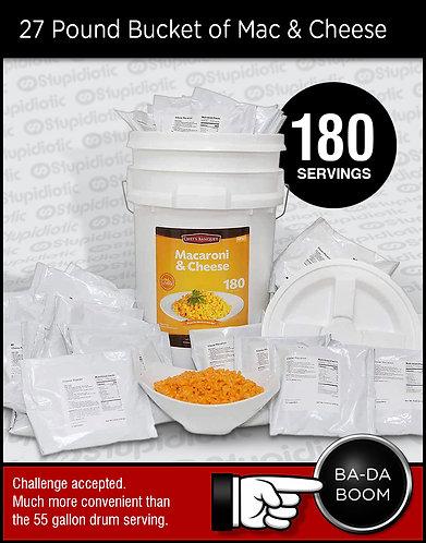27 Pound Bucket of Macaroni and Cheese