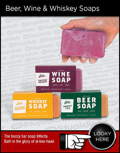Beer, Wine and Whiskey Bar Soaps