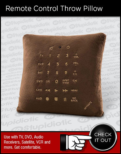 Universal Remote Control Throw Pillow