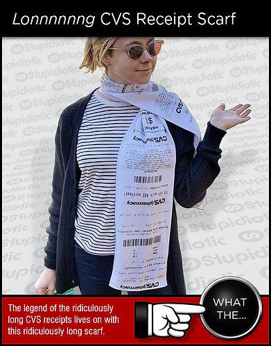 Printed CVS Receipt Knit Scarf