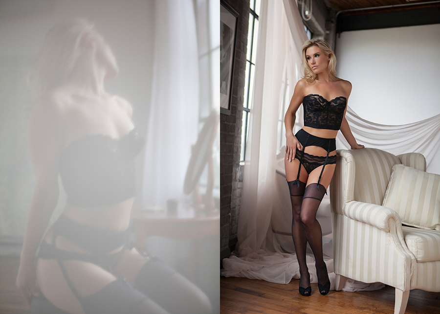 hair and makeup for boudoir shoots