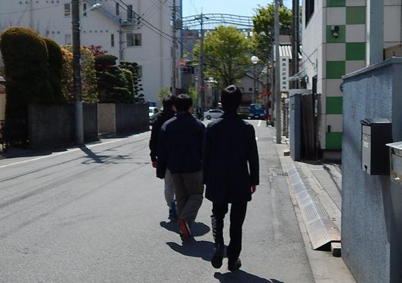 徒歩警護訓練