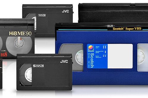 DIGITALIZZAZIONE VHS,S-VHS,Hi8,VIDEO8,DV,MINI DV,BETAMAX,BETACAM,VIDEO 2000