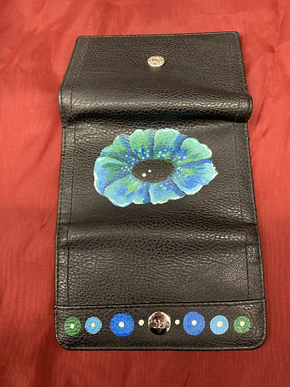 Hand-painted wallet