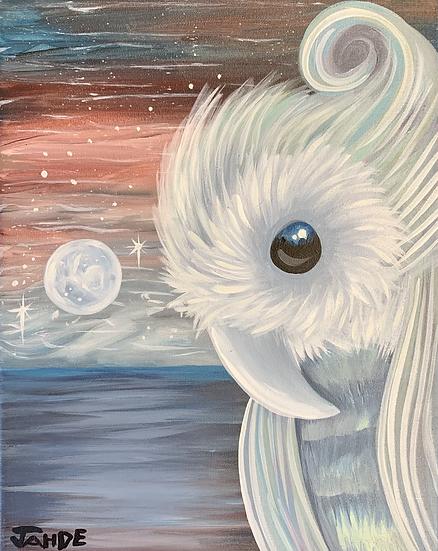 """Original Painting """"Moonbeam"""""""