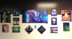 Collection on art by Jahde on Display at chops deli