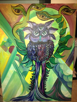 The big what owl