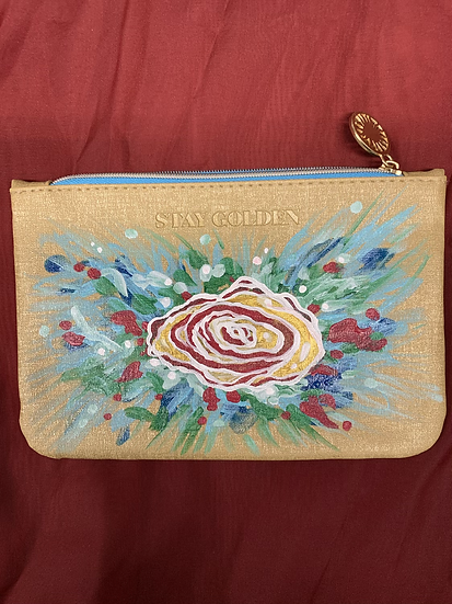 Hand-Painted zip pouch
