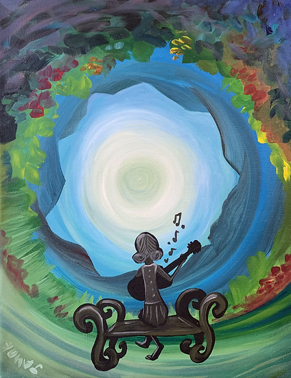 """Original Painting """"Songs from the center"""""""