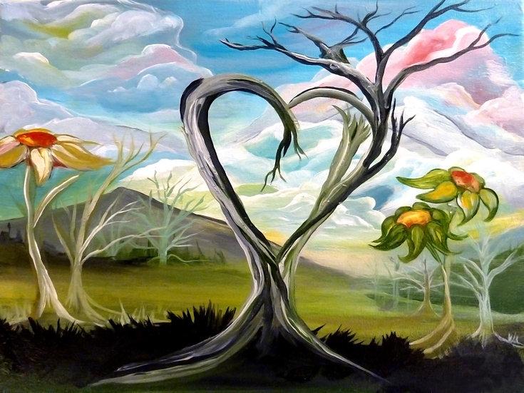 "Paper Print of ""Tree Love"""