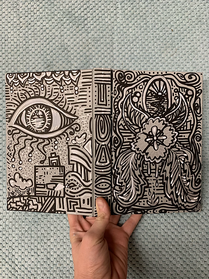 "Hand-Painted Sketchbook ""Experience"""