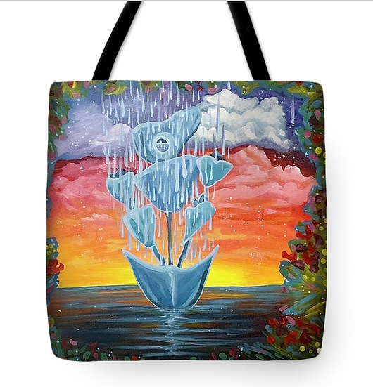 "Tote bag of ""On a Mission"" (Size: 16""X16"")"